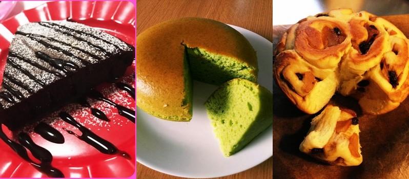 exemple de gâteaux cuits dans une suihanki. Pas très gros d'accord, mais c'est pas mal non ?